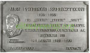cc-Szewczyk-tabliczka-300x178 Piotr Szewczyk - Cichociemny