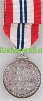 Kings_Medal_for_Courage_in_the_Cause_of_Freedom_reverse-151x350 Bernard Wiechuła - Cichociemny
