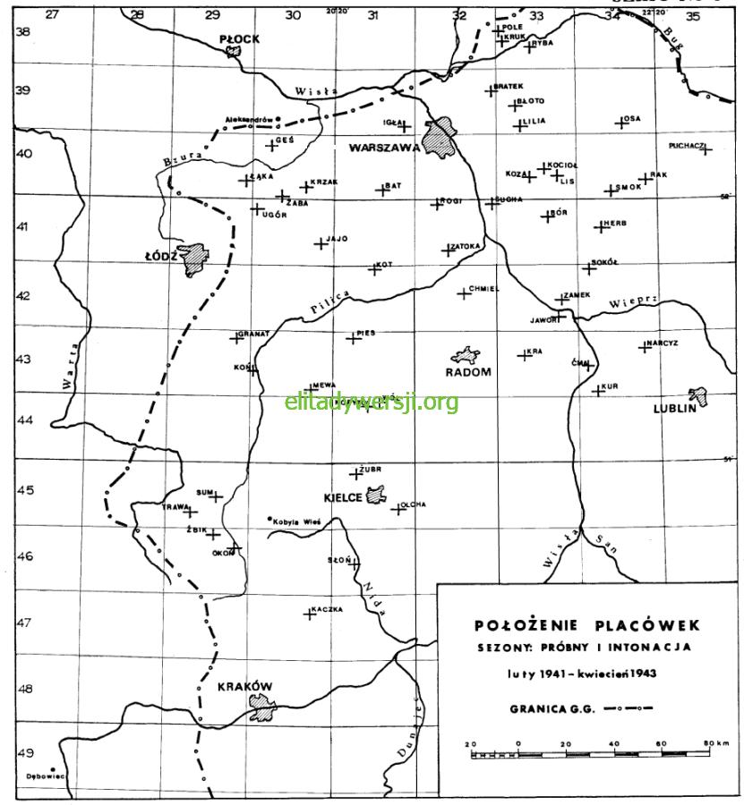 01-mapa-placowki-probny-intonacja Zrzuty - 1941 / 1942