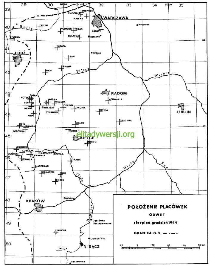 04-mapa-placowki-odwet Zrzuty - 1943 / 1944