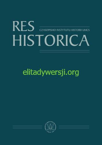 Res-Historica Publikacje
