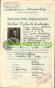 WIL-Swiadectwo-dojrzalosci_Strona_1-219x350 Wiesław Ipohorski-Lenkiewicz - Cichociemny