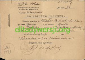 WIL-Swiadectwo-urodzenia-300x211 Wiesław Ipohorski-Lenkiewicz - Cichociemny