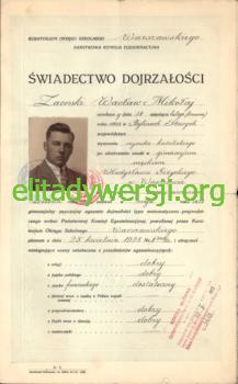 WZ-Swiadectwo-dojrzalosci_Strona_1-217x350 Wacław Zaorski - Cichociemny