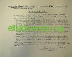Zaak-deklaracja-P1080219-250x196 Franciszek Żaak - Cichociemny